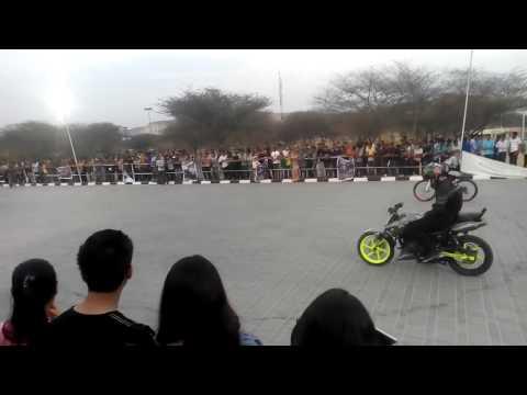 Bike Stunt Show @ MNIT Jaipur - By Steel Silencerz