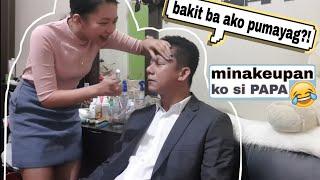 MINAKEUPAN KO SI PAPA (NAGKASAKITAN KAMI!!) Siya ang guest speaker...