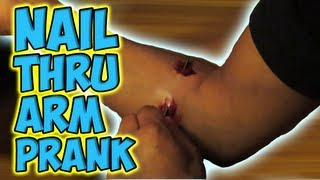 Nail Thru Arm Prank