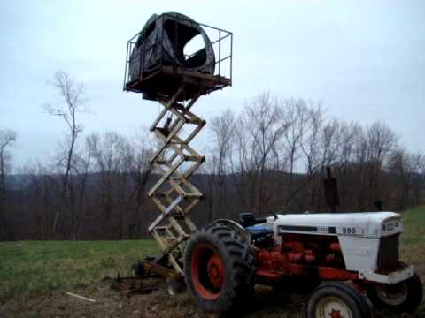 Redneck Tree Stand Set Up1 Youtube