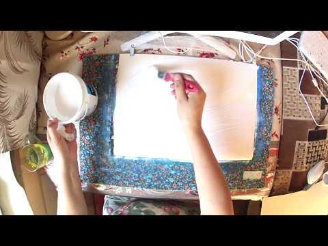 Как подготовить БУМАГУ для рисования МАСЛЯНЫМИ КРАСКАМИ