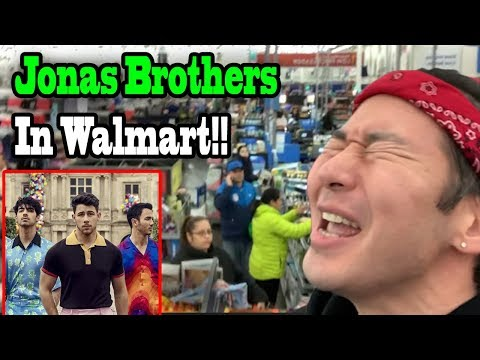 """JONAS BROTHERS """"Sucker"""" in Walmart! (Saying YES to my Girlfriend for 24 hours!!)"""