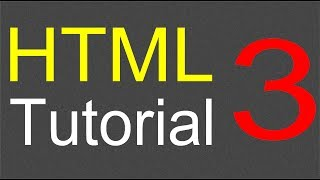 HTML Tutorial for Beginners - 03 - Ordered and Unordered lists
