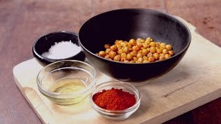 Healthy Snacks: Roasted Chick Peas - Crumbs