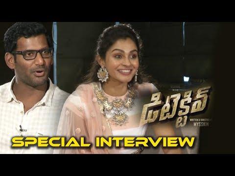 DETECTIVE Team Vishal and Andrea interview   Detective Telugu Movie 2017   Telugu Latest News