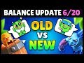 Balance Changes 6/20 OLD vs New Comparison   Clash Royale Highlights