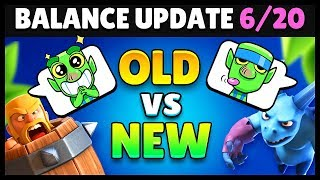 Balance Changes 6/20 OLD vs New Comparison | Clash Royale Highlights