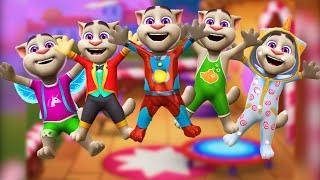 Детская песенка с Мой Говорящий Том 2. Пять маленьких обезьянок