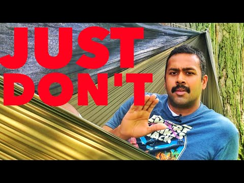 5 big mistakes people make hammock camping