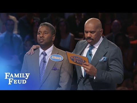 Michael And Runako AIN'T MESSIN' ROUND!!! | Family Feud