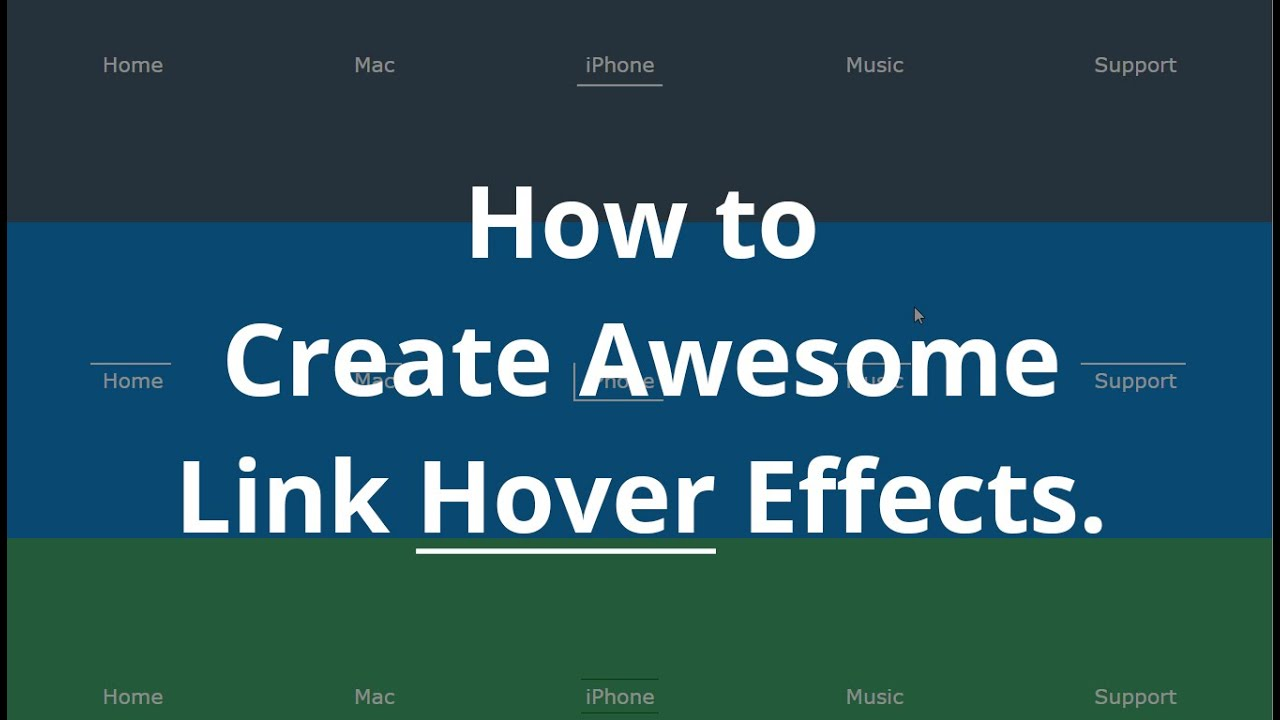 How to create Awesome Link Hover Effects in CSS