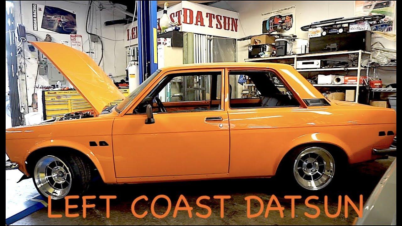 LEFT COAST DATSUN! Chuck and his sweet Datsun shop!