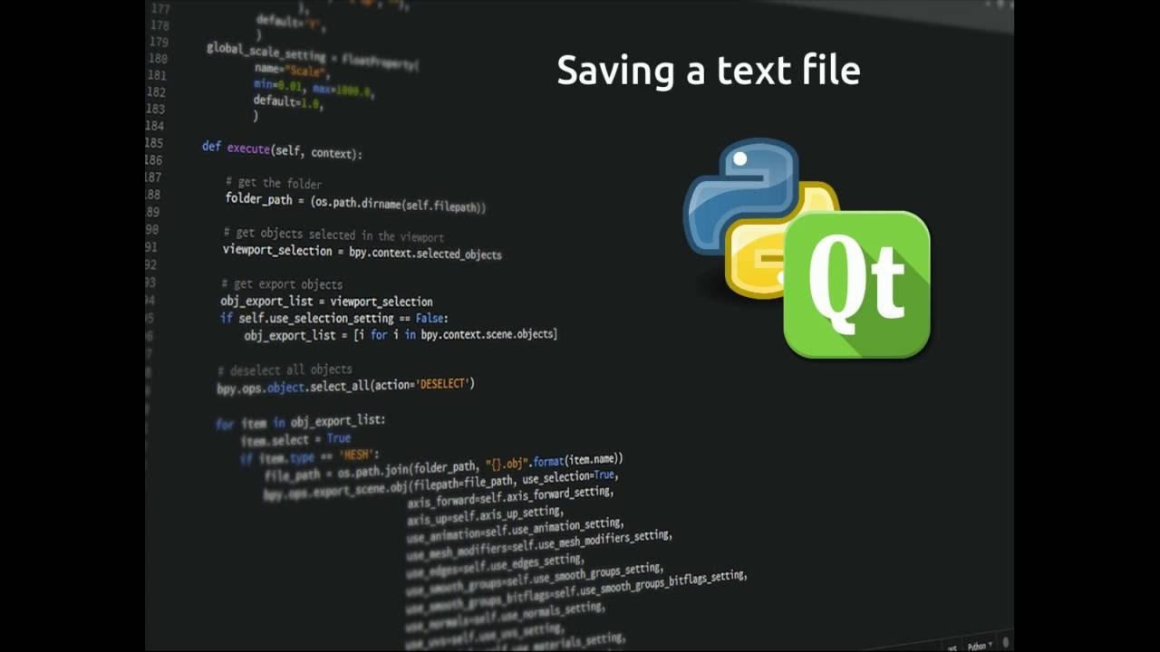 PyQt5 Lesson 12 Saving text files