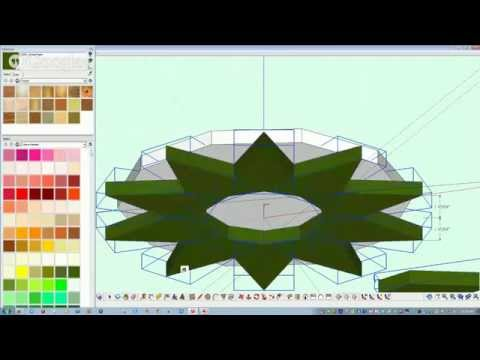 SketchUp tutorial: Wooden Christmas Tree variation