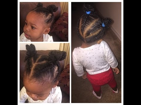 Braided NINJA Buns Easy Hairstyle For Baby And Toddler YouTube