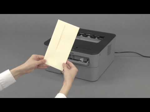 Load an Envelope in the Manual Feed Slot | Brother  HLL2300D, HLL2305W, HLL2320DW
