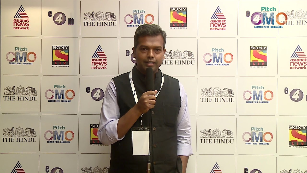 Mangesh Paditrao at Pitch CMO Summit, Bangalore