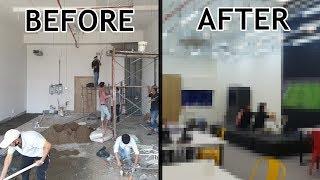 텅텅 빈 건물을 새로운 사무실로 공사하기! 우리가 꿈꿔…