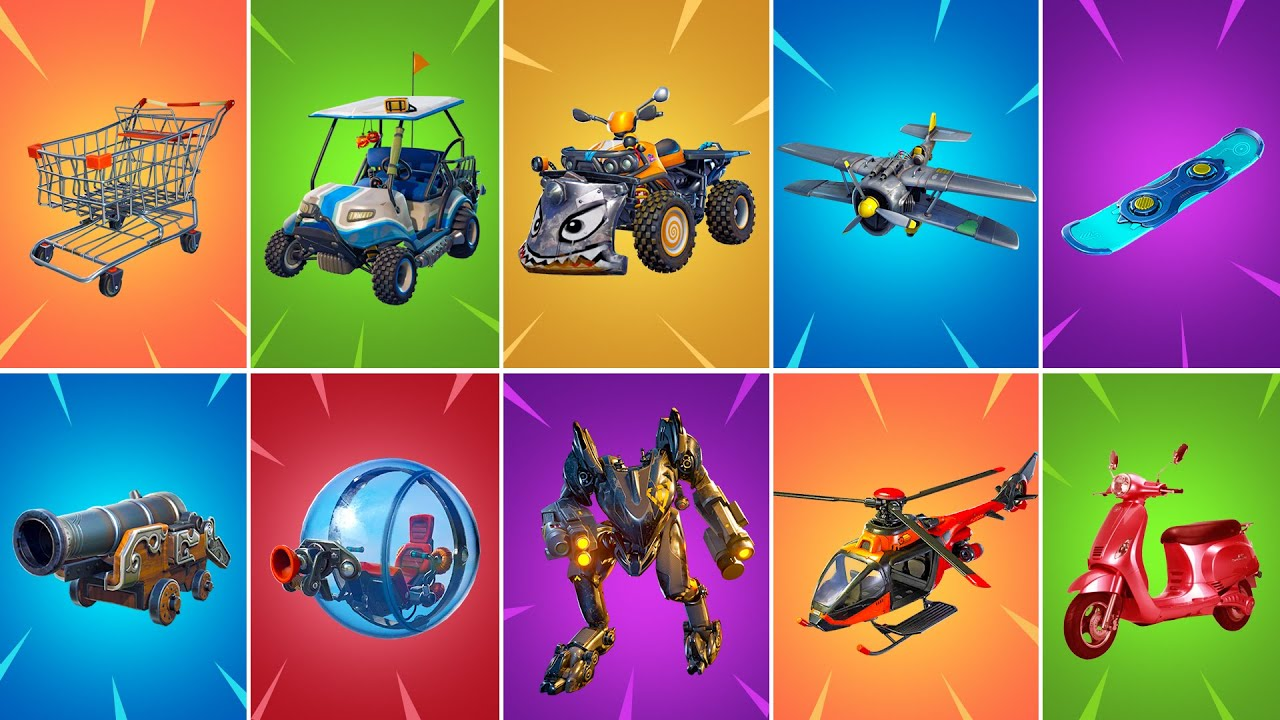 Evolution of All Fortnite Vehicles - Chapter 1 (Season 1) to Chapter 2 (Season 6)