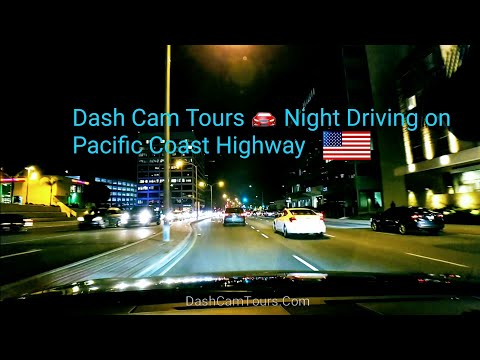 Dash Cam Tours 🚘 Night Driving on PCH from OC to LA