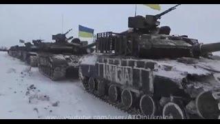 Большая Колонна Танков ВСУ идет в ДНР 27 01 Донецк War in Ukraine