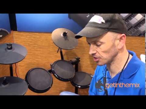 DJ Tutor Elaskins on Alesis DM7X Drums with getinthemix.com @ The NAMM Show 2013