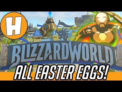 Overwatch - ALL Blizzard World Easter Eggs & Map References! | Hammeh