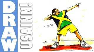 How to draw Usain Bolt - Lightning Bolt Pose