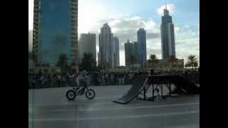 Stunt Bike Riders Show in Burj Khalifa Park, Downtown Dubai