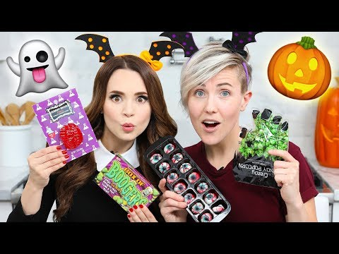 Thumbnail: TRYING FUN HALLOWEEN CANDY w/ Hannah Hart!