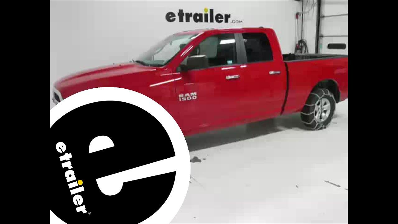 Glacier V Bar Snow Tire Chains Review 2013 Dodge Ram