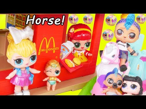 Lil Punk Boi LOL Surprise Dolls Sisters + McDonalds Drive Thru Barbie Happy Meal + Wedding JOJO SIWA