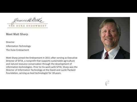 Blackbaud Webinar: Customer Story featuring the Duke Endowment