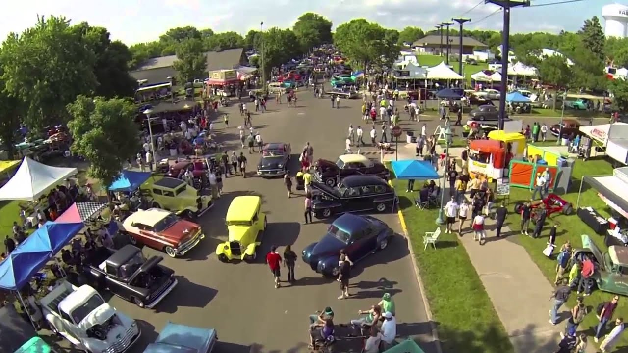 Helicopter Video Of Back To The S Car Show Minnesota State - Car show mn