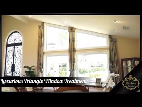 Luxurious Triangle Window Treatments   Galaxy Design Video #150