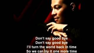 Mario G Klau -  Don't Say Good Bye Lirik