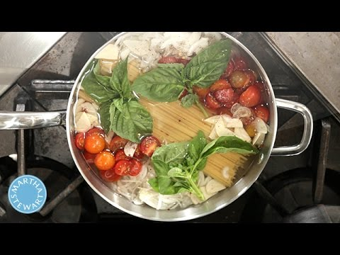Martha Stewart's Famous One Pot Pasta Recipe - Martha Stewart