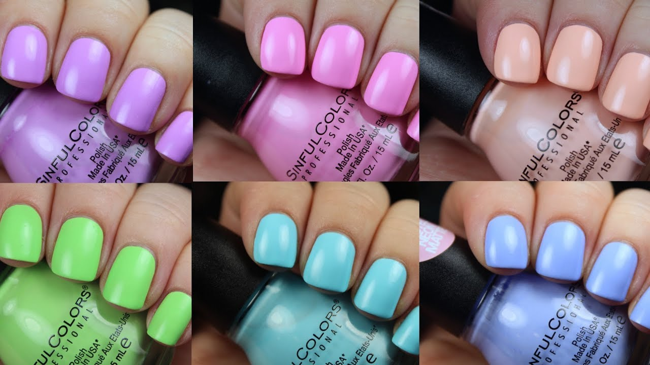 Sinful Colors Pastel Neon Mattes #GETBRIGHT   Live Application - YouTube