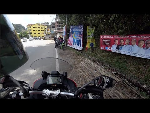 Ducati Multistrada 950 - Fully whacked at Cameron Highlands Pass