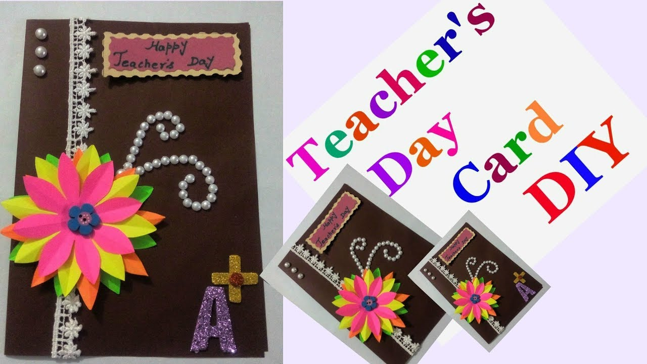 How To Make Greeting Cards For Teachers Day Step By Step Diy