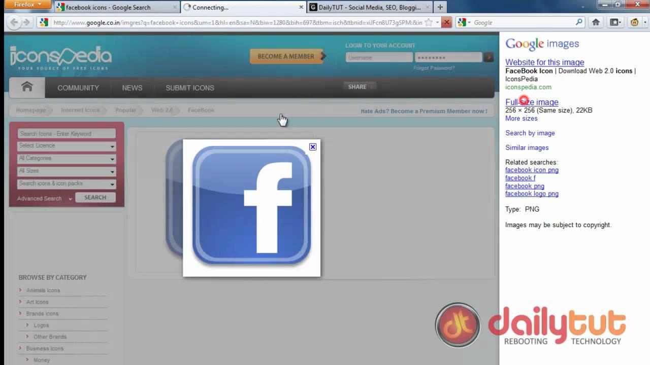 How To Create A Facebook Desktop Icon Youtube