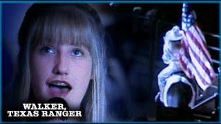 Kelly Sings The National Anthem | Walker, Texas Ranger