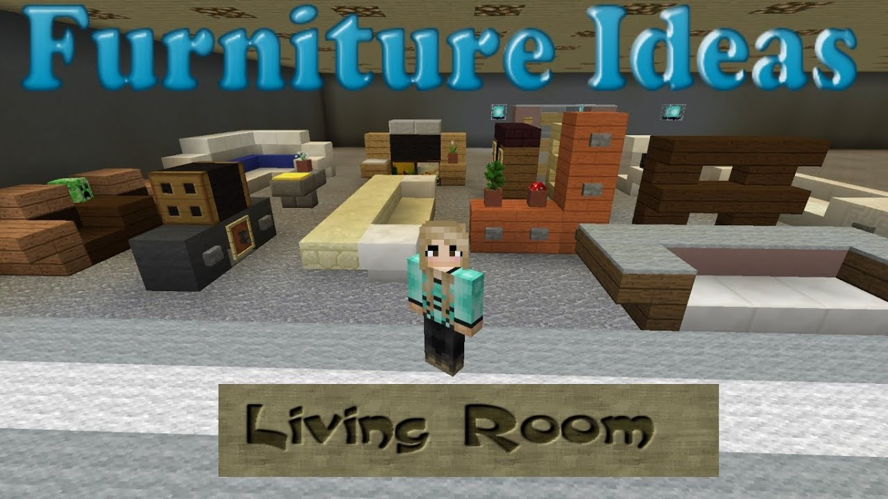 minecraft furniture ideas: #2 kiwi designs for living room