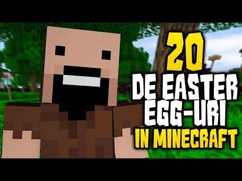 20 DE EASTER EGG-uri IN MINECRAFT