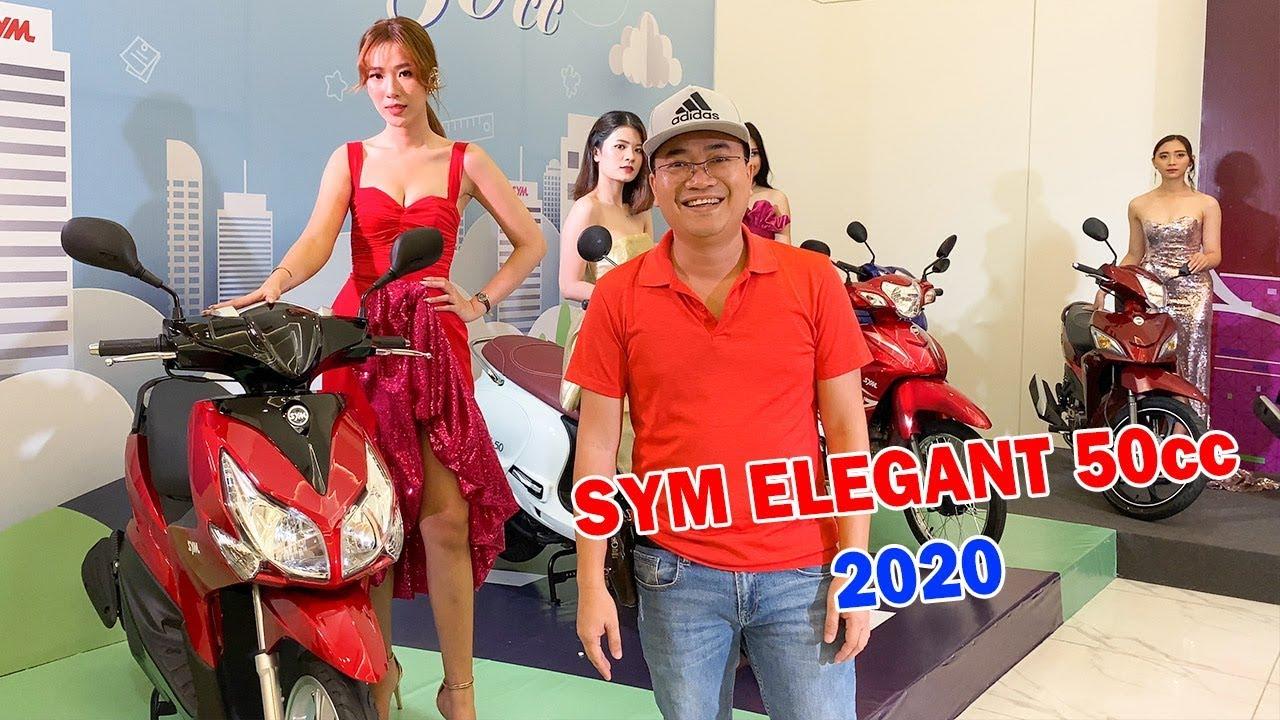 SYM Elegant 50cc 2020 ra mắt với kiểu dáng gọn hơn | Xe tay ga Atila 50cc và Passing 50cc khá lạ