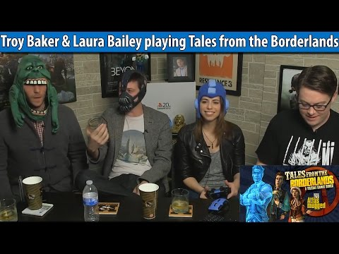 Troy Baker & Laura Bailey playing Tales from the Borderlands