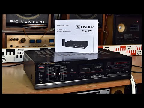 Studio Standard By FISHER CA-876 Integrated Stereo Amplifier & SERVICE MANUAL - Service Required