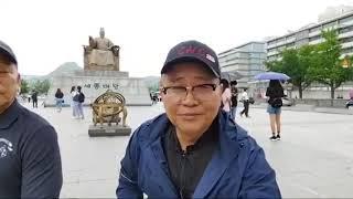 지난 해 천막당사에서 변부총창님과 경호단장님 인터뷰