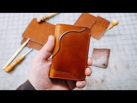 Making a No.68 | Western Vertical Leather Wallet (one of our top sellers)