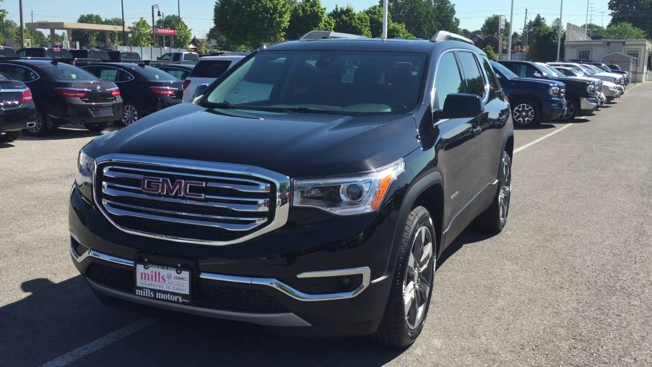 demo 2017 gmc acadia slt 2 awd dual sunroof black oshawa. Black Bedroom Furniture Sets. Home Design Ideas